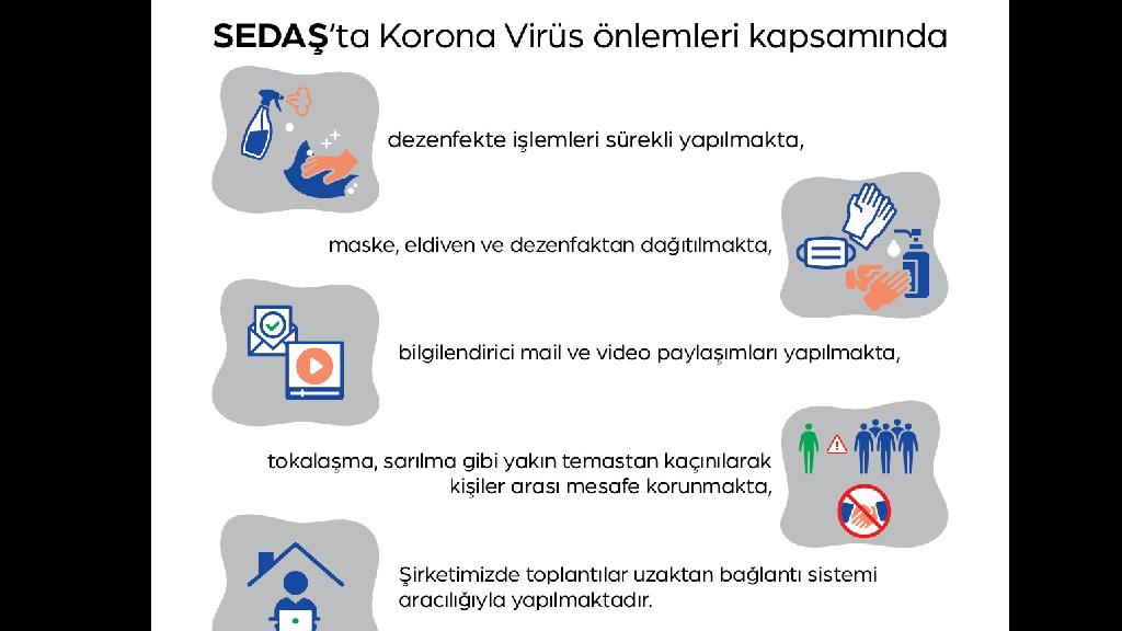 SEDAŞ Korona Virüs Önlemlerini Aldı