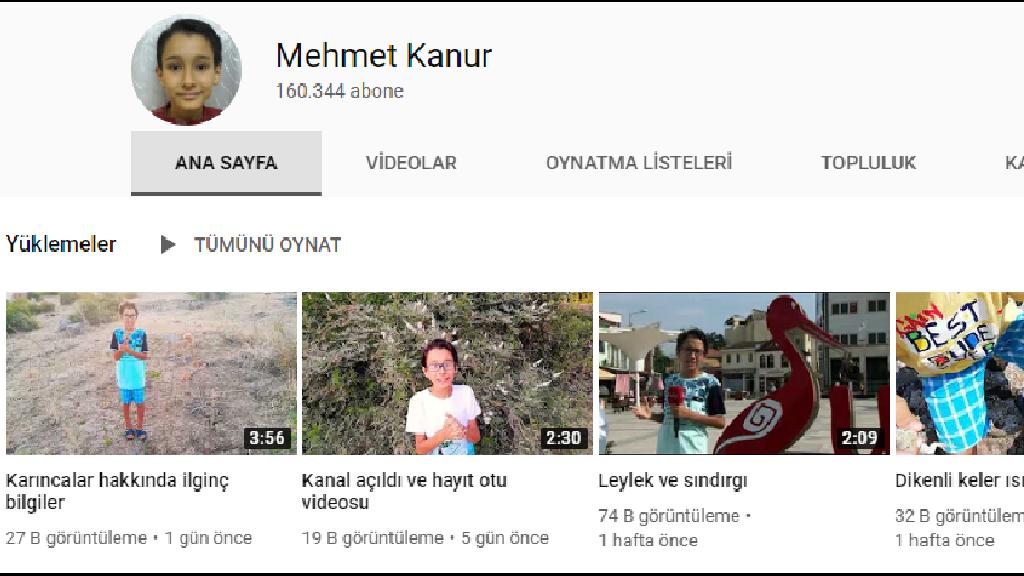 Mehmet Kanur Hayvan Videoları Youtube Kanalı