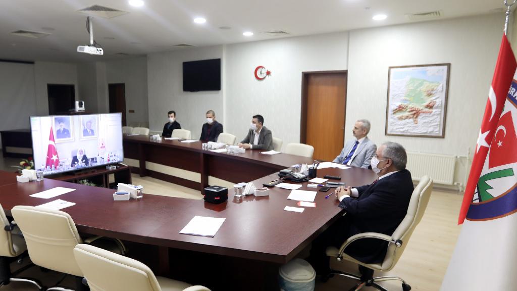 Vali Nayir Bakan Selçuk ile Videokonferansa Katıldı