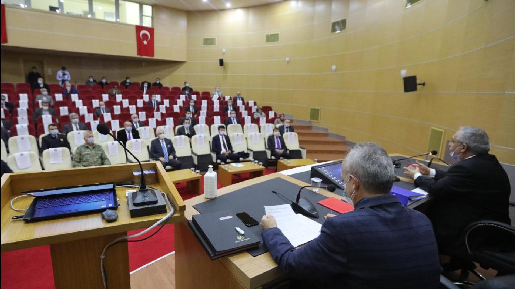 Vali Nayir İl Pandemi Kurulu'na Başkanlık Etti